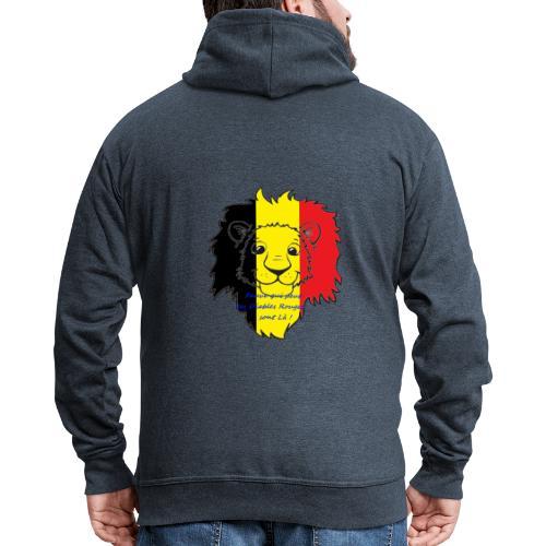 Lion supporter Belgique - Veste à capuche Premium Homme