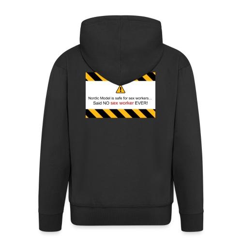 said no escort ever - Men's Premium Hooded Jacket