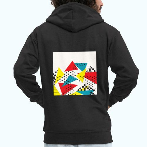 Abstract vintage collage - Men's Premium Hooded Jacket