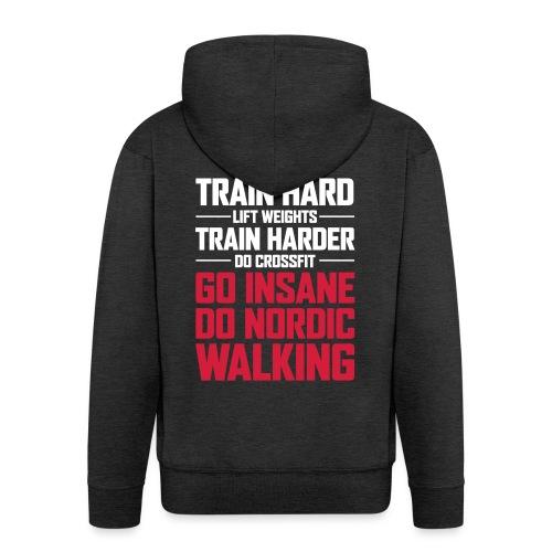 Nordic Walking - Go Insane - Miesten premium vetoketjullinen huppari