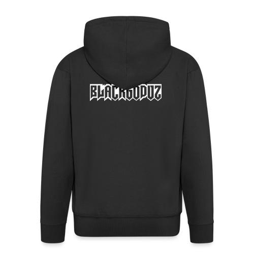 blackgodvz - Felpa con zip Premium da uomo