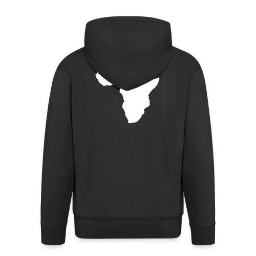 Africa Weiß - Männer Premium Kapuzenjacke