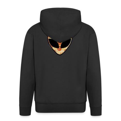 Pizza_alien - Felpa con zip Premium da uomo