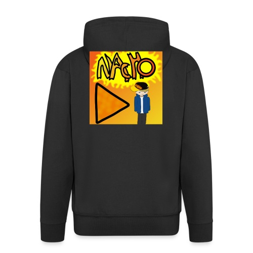 Nacho Title with Little guy - Men's Premium Hooded Jacket