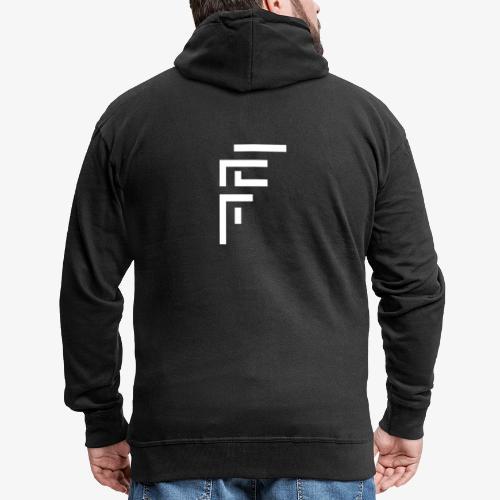 Block Style Logo - Men's Premium Hooded Jacket