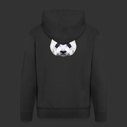 Panda Low Poly - Veste à capuche Premium Homme