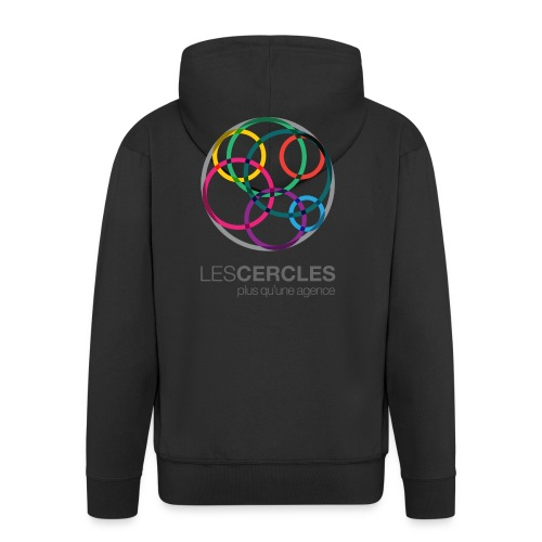 LESCERCLES Logo Colour - Men's Premium Hooded Jacket