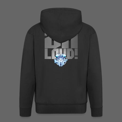 metalonloud large 4k png - Men's Premium Hooded Jacket
