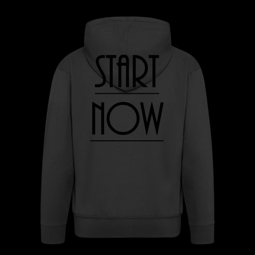 start now - Männer Premium Kapuzenjacke