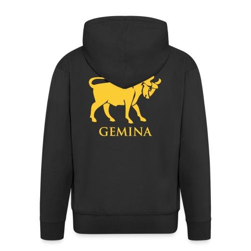 leg_x_gemina - Felpa con zip Premium da uomo