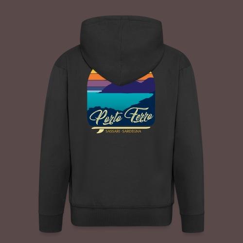 Porto Ferro - Vintage travel sunset - Felpa con zip Premium da uomo