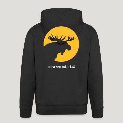 Hirvenmetsästäjä - moose hunter (finnish version) - Männer Premium Kapuzenjacke