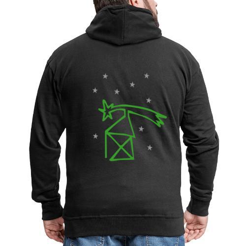 nikolaushaus mit komet - Männer Premium Kapuzenjacke