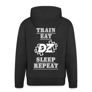 Train, Eat, Sleep, Repeat - Trainingsmotivation - Männer Premium Kapuzenjacke