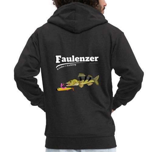 Faulenzer - Zander Liebling - Fishyworm - Männer Premium Kapuzenjacke