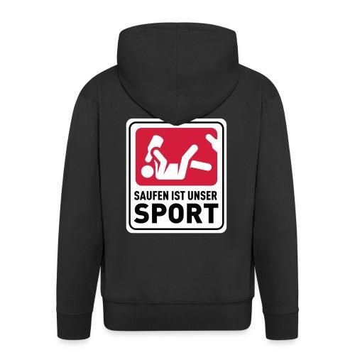 Bundesliga - Saufdesign Saufen ist unser Sport - Männer Premium Kapuzenjacke