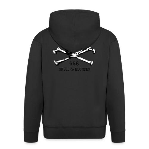 skull & blondes (black) - Männer Premium Kapuzenjacke
