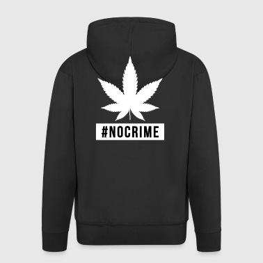 Marijuana Cannabis Design gåva inget brott - Premium-Luvjacka herr