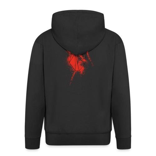Geometria cuore schizzo sangue - Felpa con zip Premium da uomo