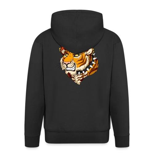 Punk Tiger - Rozpinana bluza męska z kapturem Premium