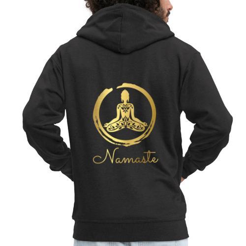 Yoga Buddha - Men's Premium Hooded Jacket