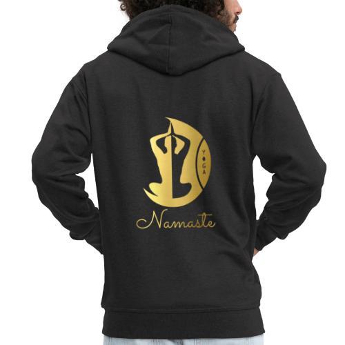 Namaste - Men's Premium Hooded Jacket