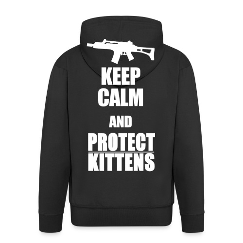 Keep Calm and Protect Kittens - Männer Premium Kapuzenjacke