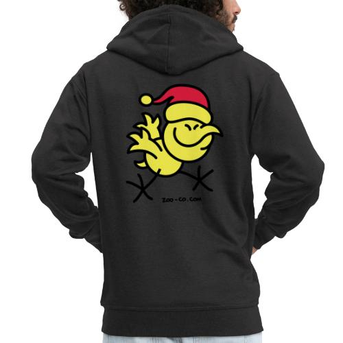 Merry Christmas Chicken - Men's Premium Hooded Jacket