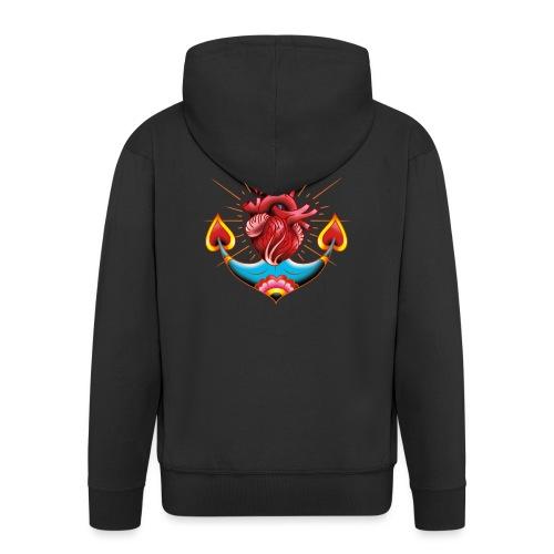 Sailor's Heart - Tattoo design - Veste à capuche Premium Homme