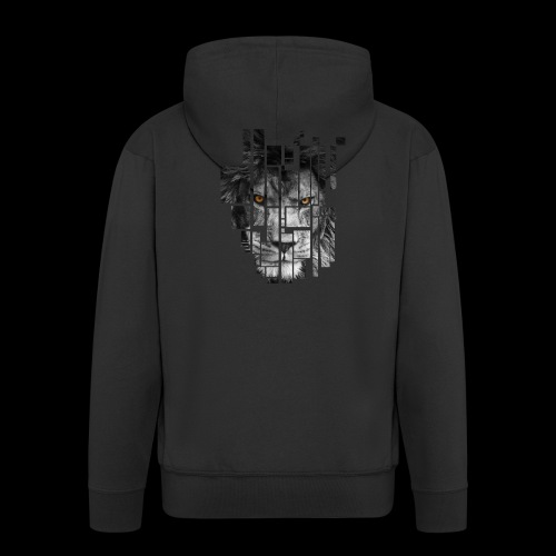 Pixel Lion Tattoo Inspire - Men's Premium Hooded Jacket