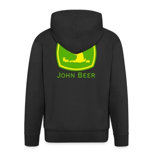 john beer-Funny Shirt - Männer Premium Kapuzenjacke