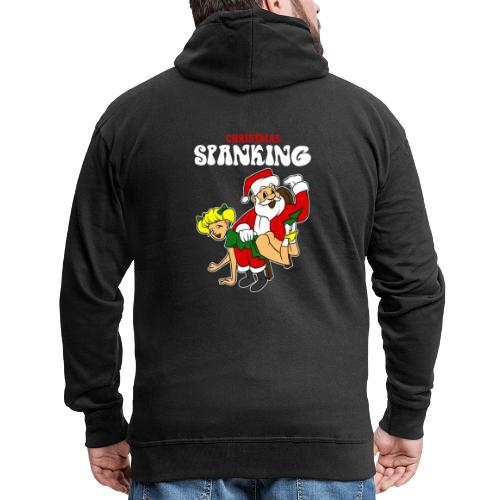 Christmas Spanking - Men's Premium Hooded Jacket