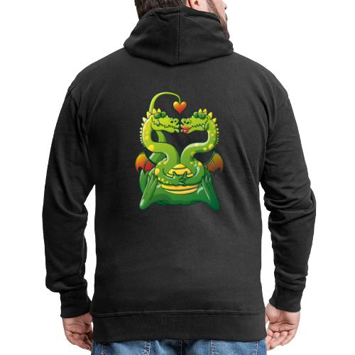 Dragons Madly in Love - Men's Premium Hooded Jacket