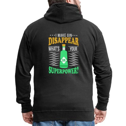 I can make gin disappear - Men's Premium Hooded Jacket