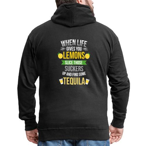 Tequila - When life gives you lemons - Men's Premium Hooded Jacket