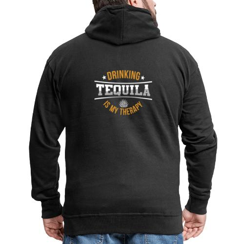 Tequila therapy - Men's Premium Hooded Jacket