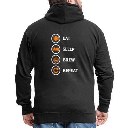 Eat Sleep Brew Repeat Brewers Gift - Men's Premium Hooded Jacket