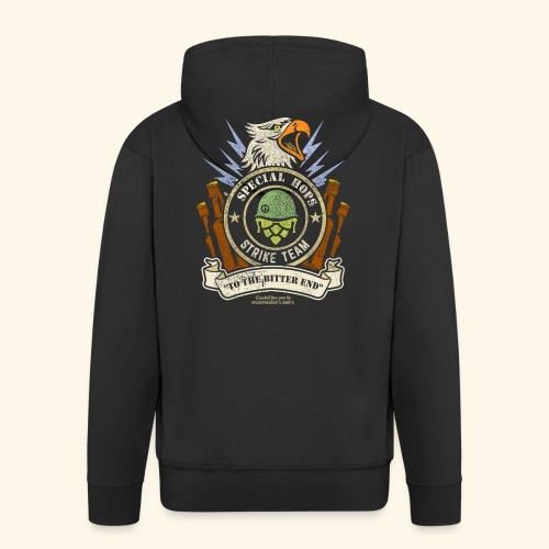Craft Beer Fan T Shirt Special Hops Strike Team - Männer Premium Kapuzenjacke