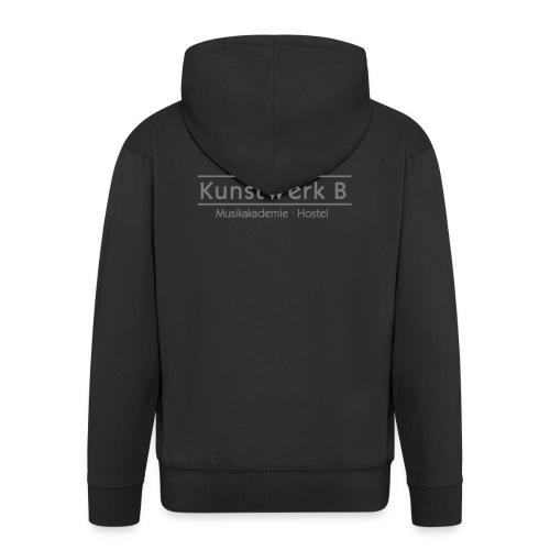 Logo KunstWerk B Black - Männer Premium Kapuzenjacke