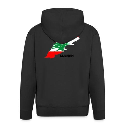 libanon landkarte - Männer Premium Kapuzenjacke