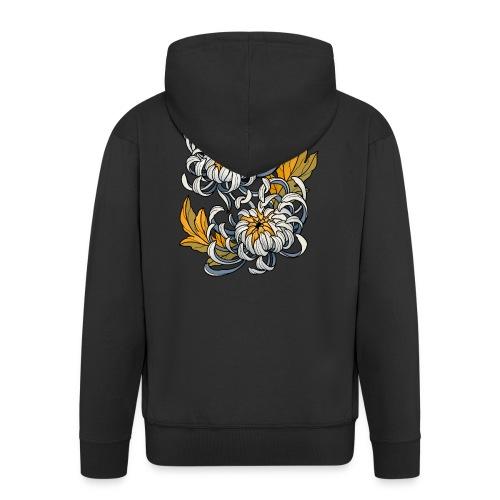 Chrysanthèmes enlacés - Veste à capuche Premium Homme