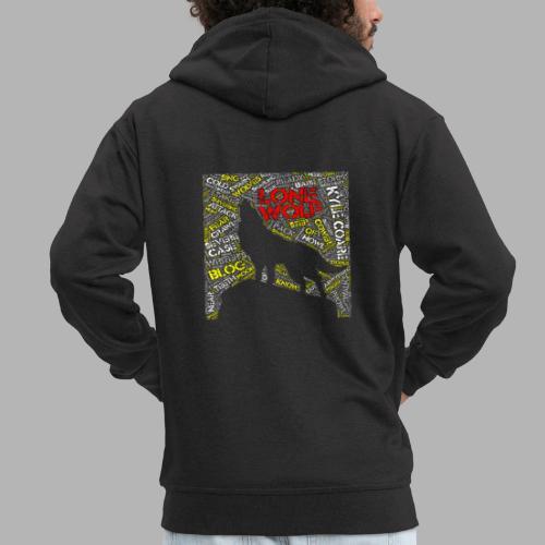 Lone Wolf - Men's Premium Hooded Jacket