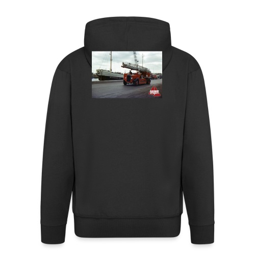 Fire Truck at Galway Docks 1970 - Men's Premium Hooded Jacket
