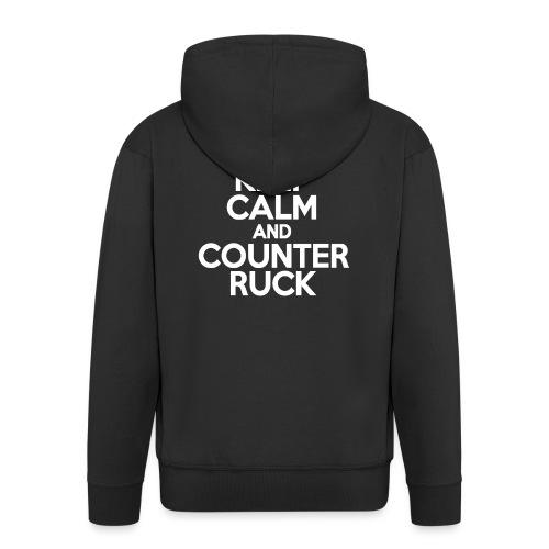 Keep Calm & Counter Ruck - Men's Premium Hooded Jacket