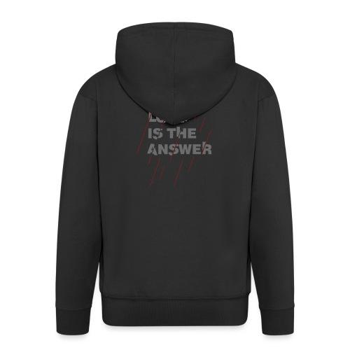LOVE IS THE ANSWER 2 - Felpa con zip Premium da uomo