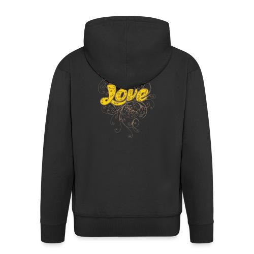 Scritta Love con decorazione - Felpa con zip Premium da uomo