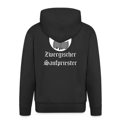 Zwergischer Saufpriester (weiße Schrift) - Männer Premium Kapuzenjacke