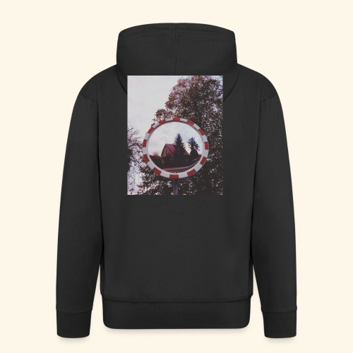 Domek - Rozpinana bluza męska z kapturem Premium