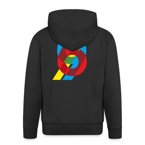 colorful numbers - Men's Premium Hooded Jacket