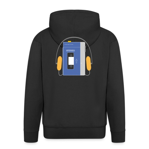 Stereo walkman in blue - Men's Premium Hooded Jacket